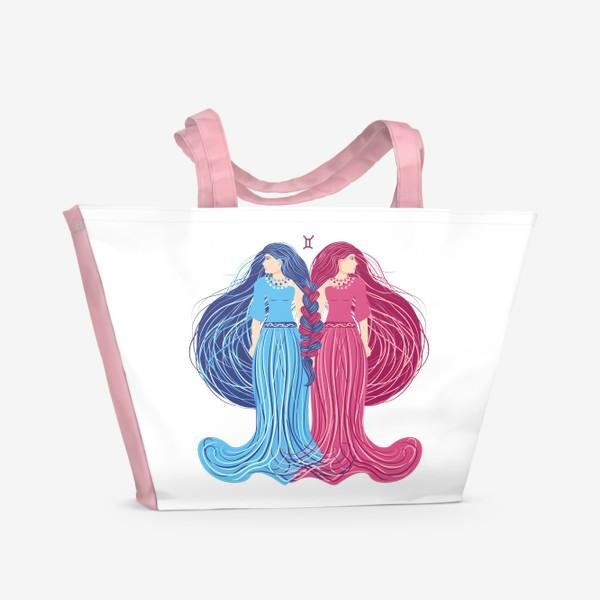 Пляжная сумка «Знак зодиака Близнецы »