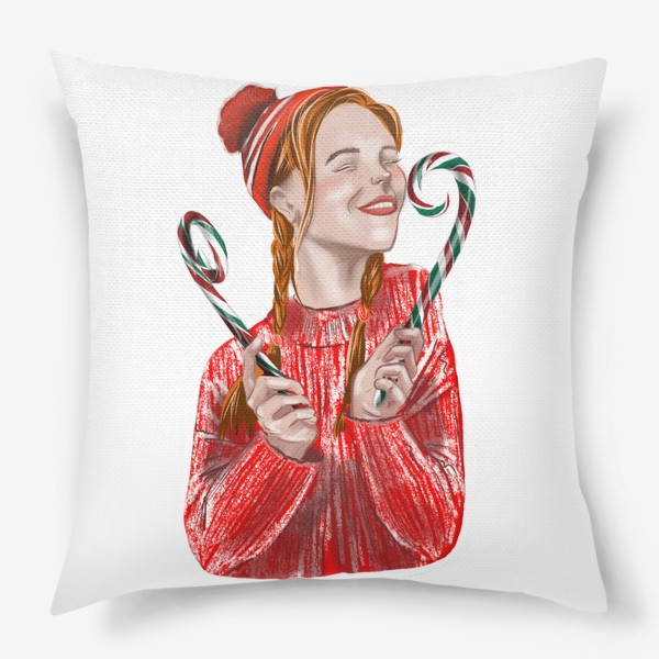 Подушка «Веселье на рождество»