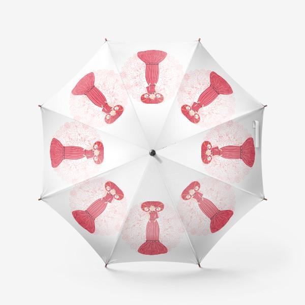 Зонт «Знак зодиака Овен и цветочная мандала»