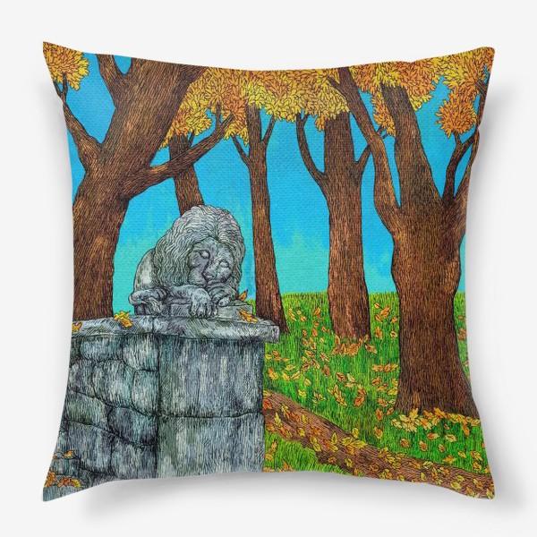 Подушка «Осень в парке»
