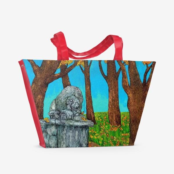 Пляжная сумка «Осень в парке»