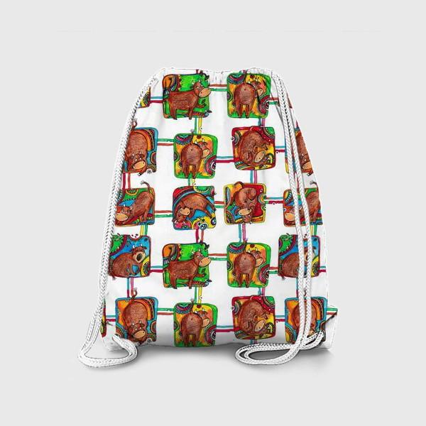 Рюкзак «Быки 2021. Паттерн»
