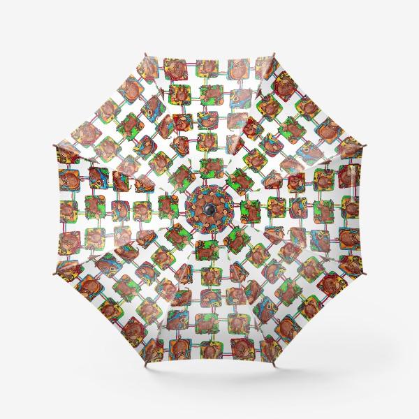 Зонт «Быки 2021. Паттерн»