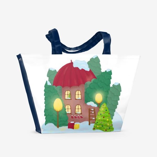 Пляжная сумка «Сказочный домик»