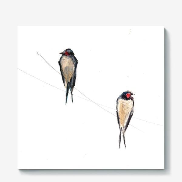 Холст «Хрупкие птицы»