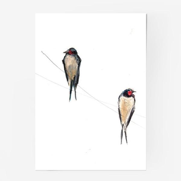 Постер «Хрупкие птицы»