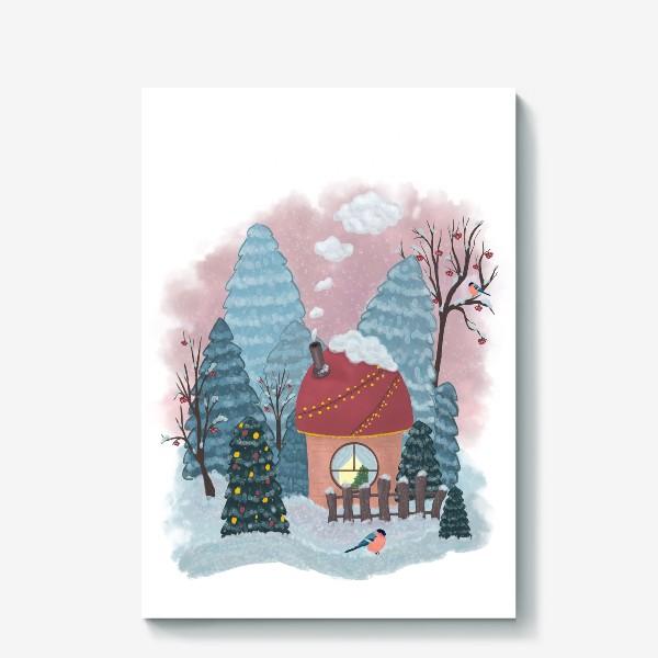 Холст «Уютный лесной домик»