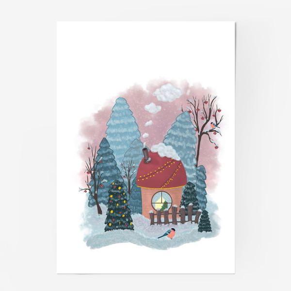 Постер «Уютный лесной домик»