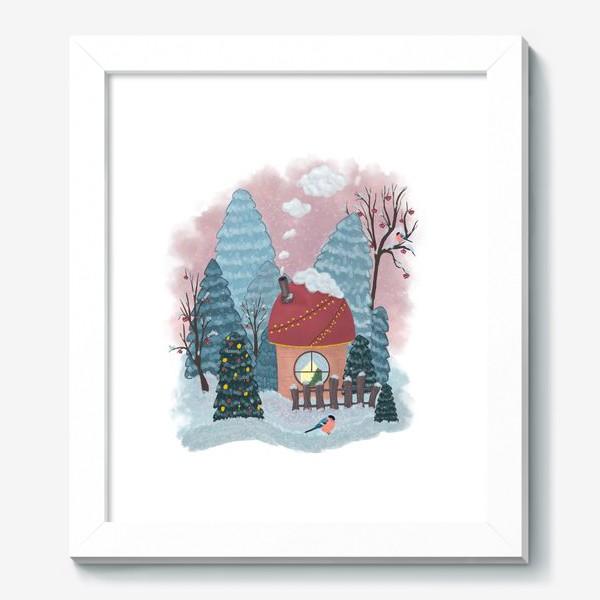 Картина «Уютный лесной домик»