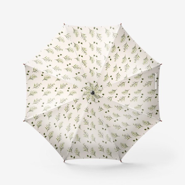 Зонт «Листья на бежевом (паттерн)»