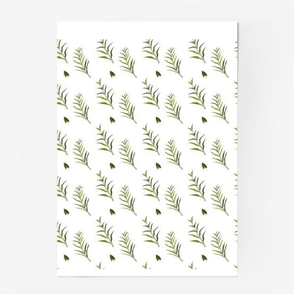 Постер «Листья на белом»