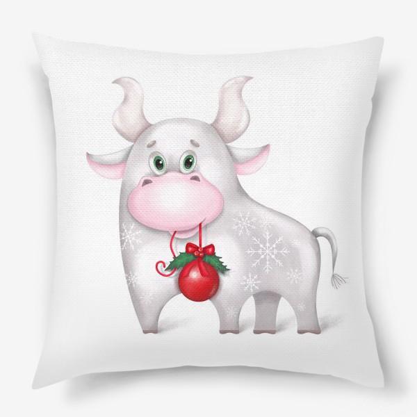 Подушка «Металлический бык»