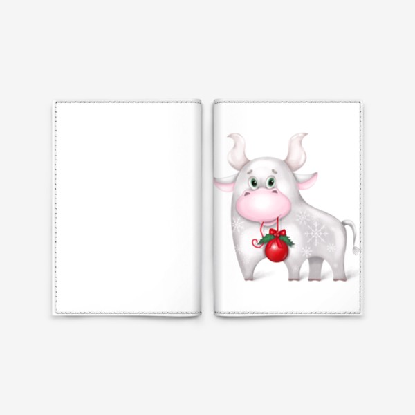 Обложка для паспорта «Металлический бык»