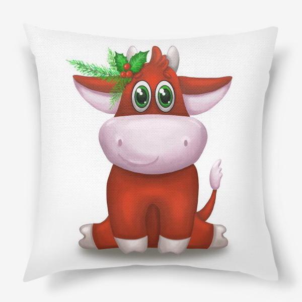 Подушка «Красный бык»
