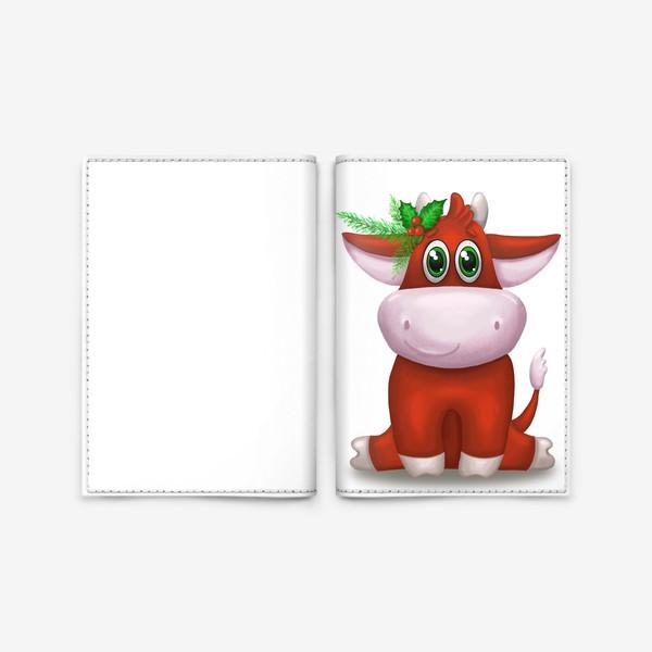Обложка для паспорта «Красный бык»