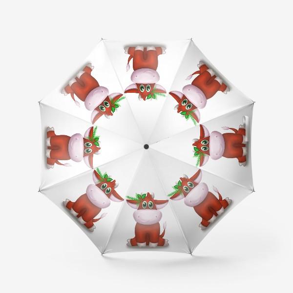 Зонт «Красный бык»