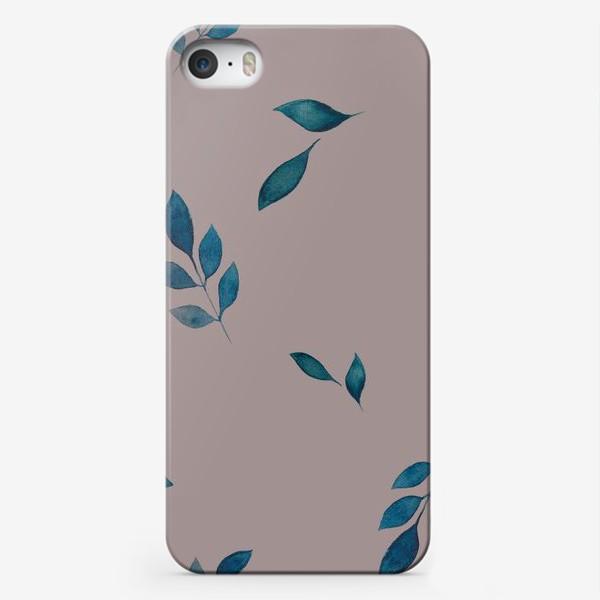 Чехол iPhone «Акварельные листья »