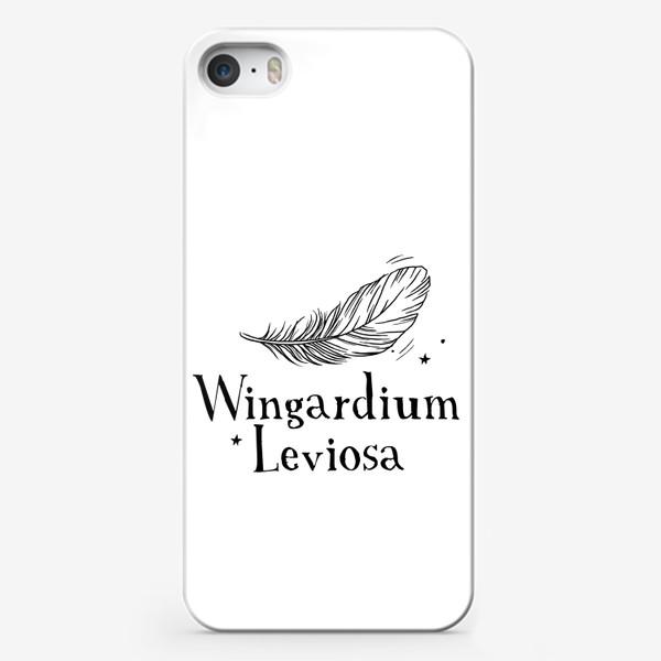 Чехол iPhone «Левиоса. Вингардиум Левиоса. Гарри Поттер. Волшебство. Хогвартс. Перо»