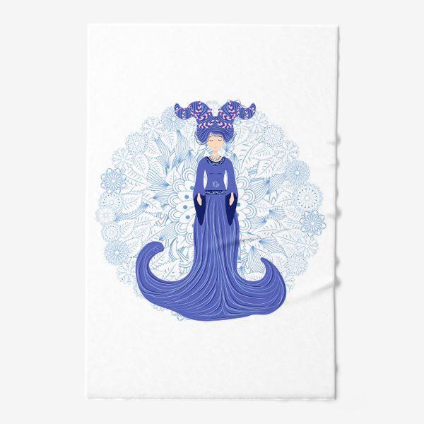 Полотенце «Знак зодиака Козерог и цветочная мандала»