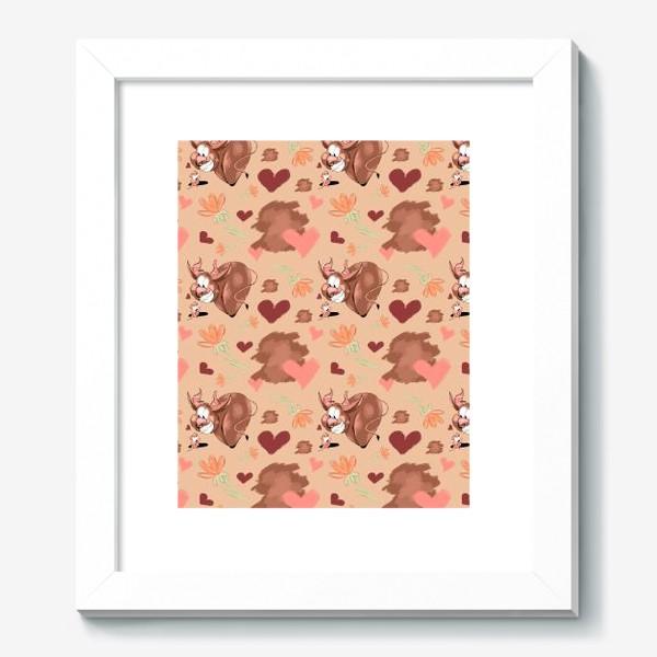 """Картина «Паттерн """"Влюблённый бык и суслик""""»"""