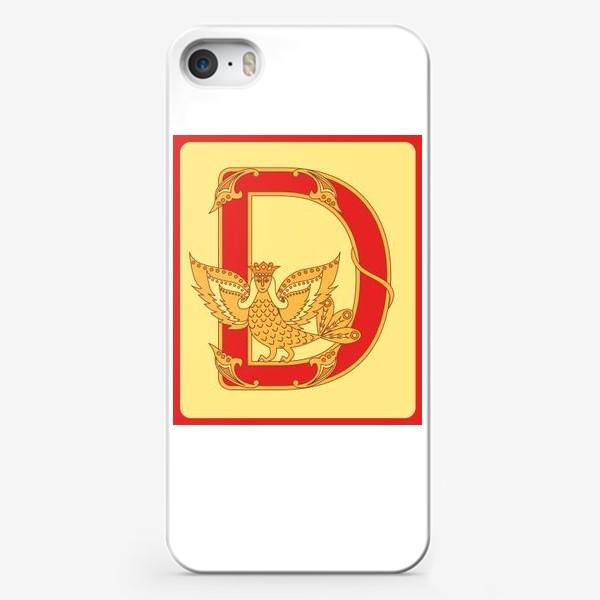 Чехол iPhone «Буква D в старорусском стиле»