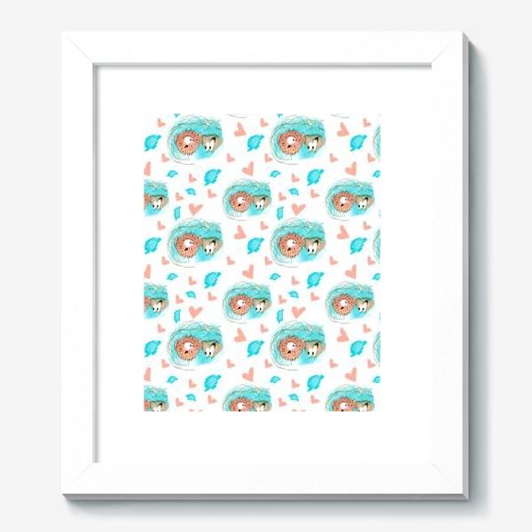 """Картина «Паттерн """"Влюблённая медуза и рыба""""»"""