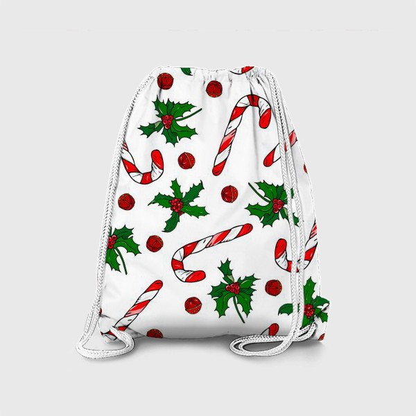 Рюкзак «рождество, остролист и конфеты»