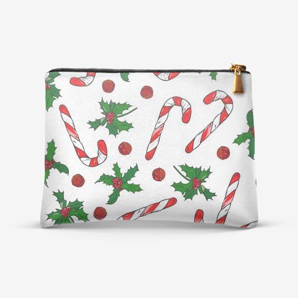 Косметичка «рождество, остролист и конфеты»