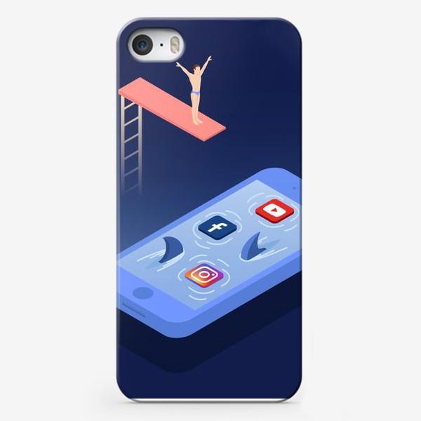 Чехол iPhone «Прыжок в соцсети»