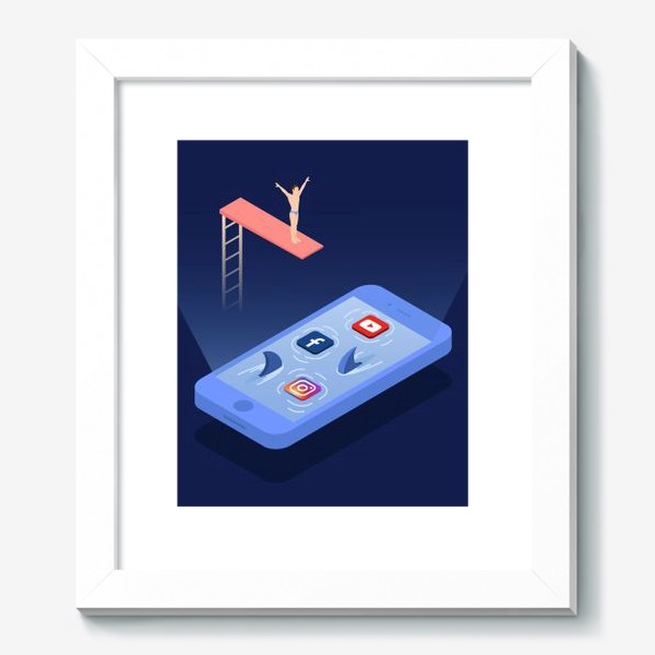 Картина «Прыжок в соцсети»
