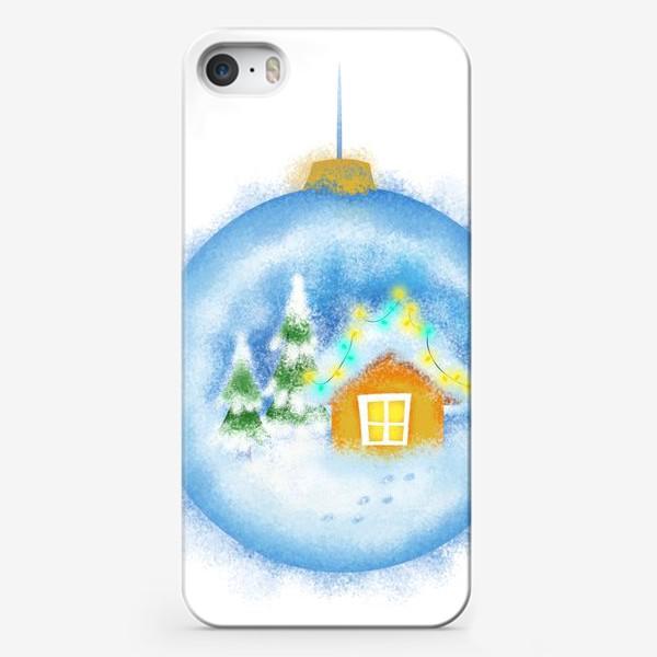 Чехол iPhone «Стеклянный елочный шар»