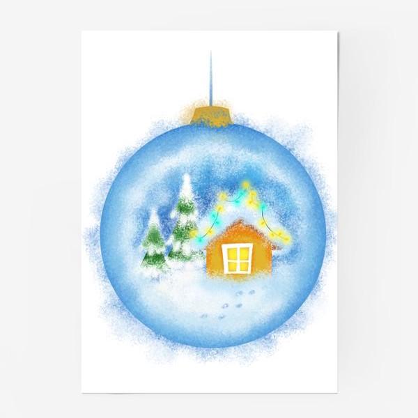 Постер «Стеклянный елочный шар»