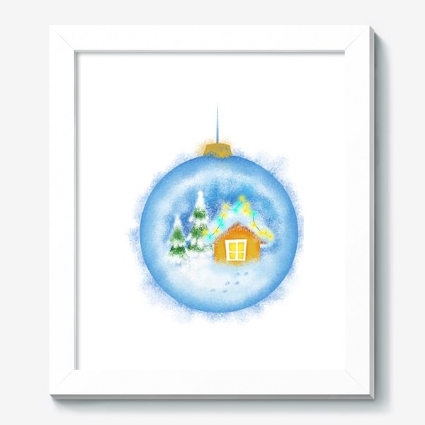 Картина «Стеклянный елочный шар»