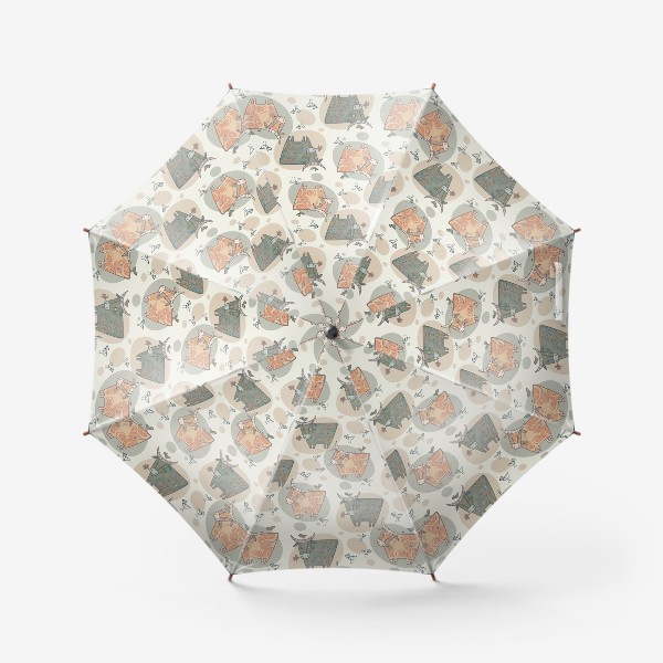 Зонт «Символ года 2021. Релакс. Паттерн.»