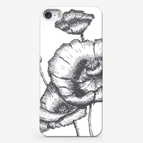 Чехол iPhone «Маки (черно-белая графика)»