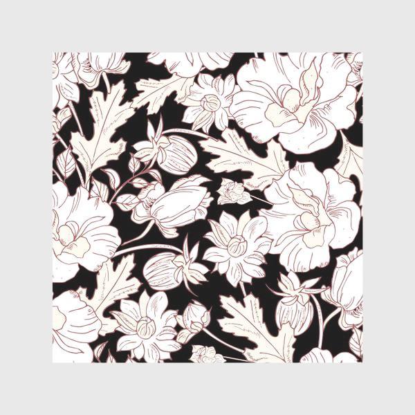 Скатерть «цветы на чёрном»