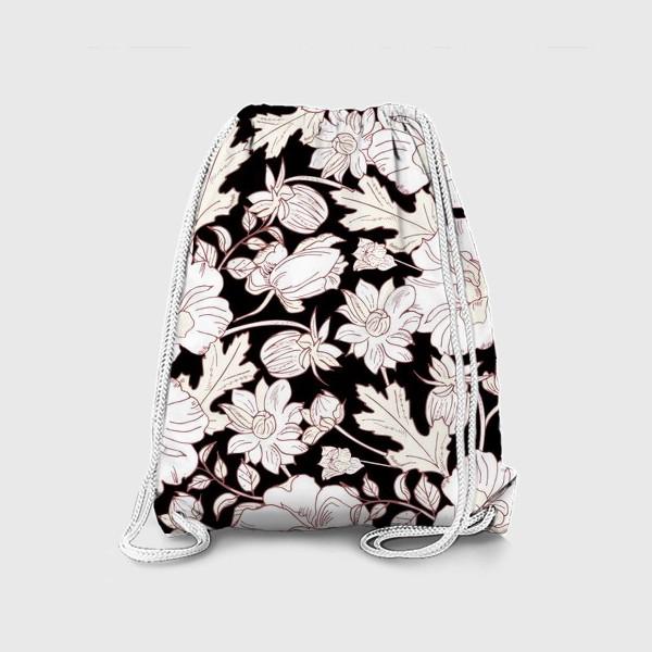 Рюкзак «цветы на чёрном»
