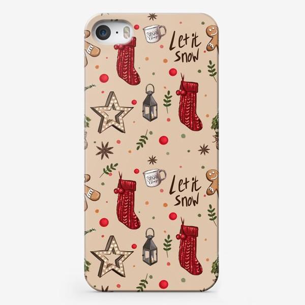 Чехол iPhone «Новогодний декор»