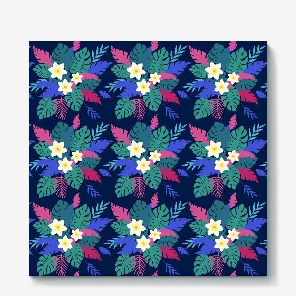 Холст «тропические цветы»
