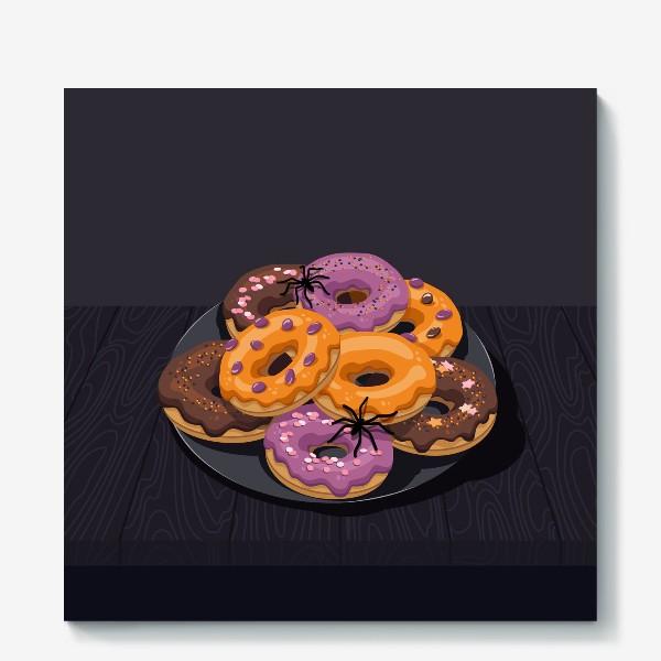Холст «Пончики»