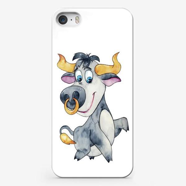 Чехол iPhone «Символ 2021 года. Акварель»