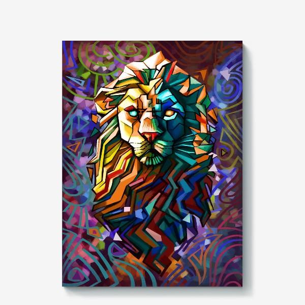 Холст «знак зодиака лев»