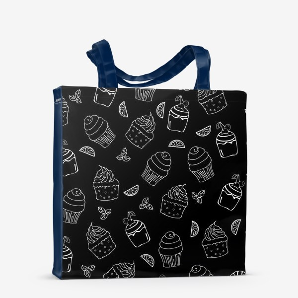 Сумка-шоппер «кексы и пирожные»