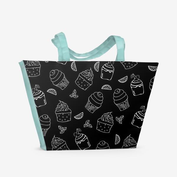 Пляжная сумка «кексы и пирожные»