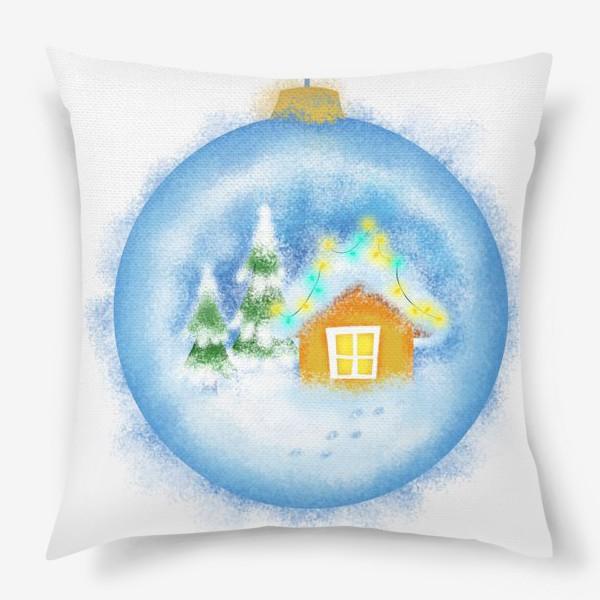Подушка «Стеклянный елочный шар»