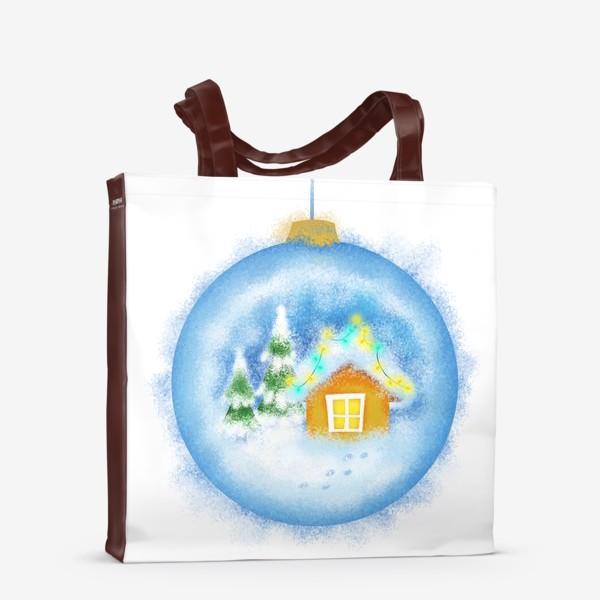 Сумка-шоппер «Стеклянный елочный шар»