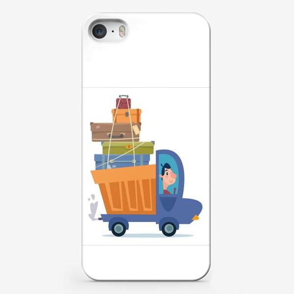 Чехол iPhone «грузовик с чемоданами путешественника»
