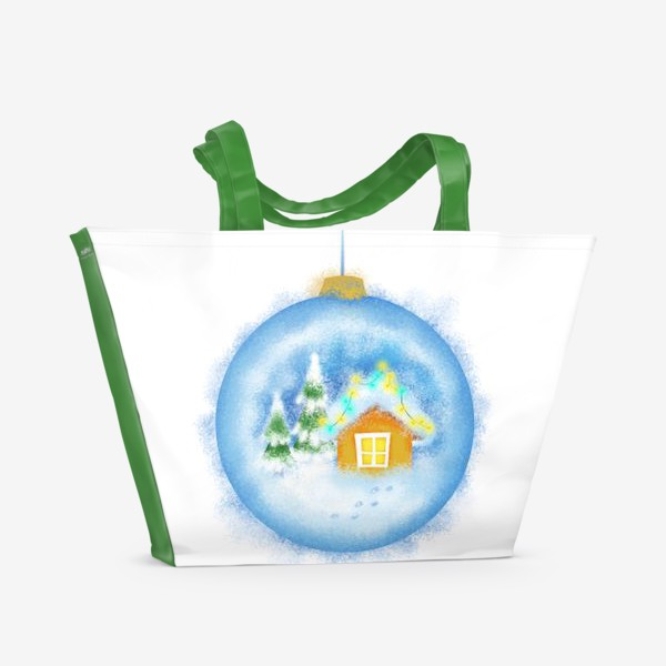 Пляжная сумка «Стеклянный елочный шар»