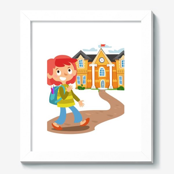 Картина «Школьница идет в школу»