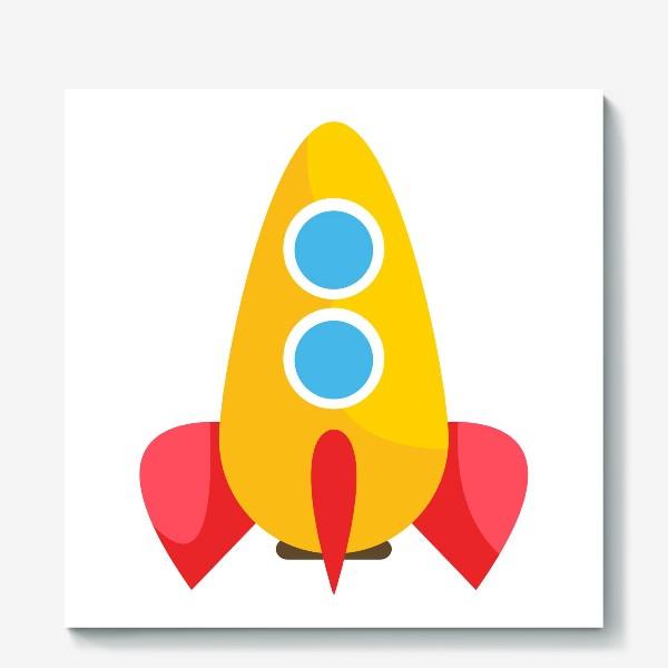 Холст «Ракета мультяшная»